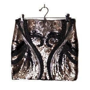 Endless Rose Art Deco sequined mini skirt size S